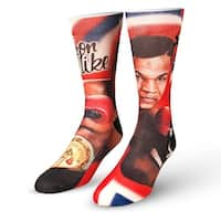 Odd Sox Men's Mike Tyson The Champ (Official) Socks Black