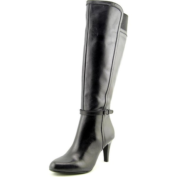 Circa Joan & David Hadlie Wide Calf Round Toe Leather Knee High Boot