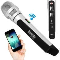 Bluetooth Karaoke Microphone Speaker System with Wireless FM Radio Station Broadcasting
