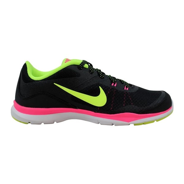 super cute 7a04c 18454 Shop Nike Flex Trainer 5 Black Volt-Pink-Dark Grey Women s 724858-006 Size  7.5 Medium - Free Shipping Today - Overstock - 27640515