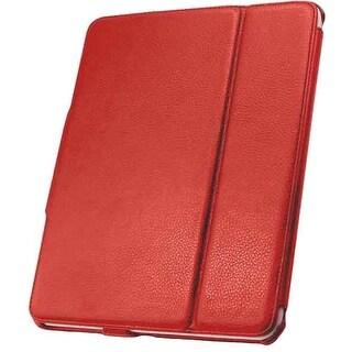 Unlimited Cellular Leather Folio Case for Apple iPad 4/3/2 - Red