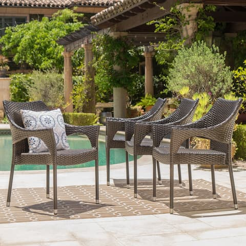 Cliff Outdoor Wicker Chairs Set by Christopher Knight Home