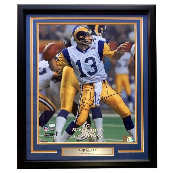 hot sale online d7576 ca633 Shop Kurt Warner Signed Framed St. Louis Rams Super Bowl ...