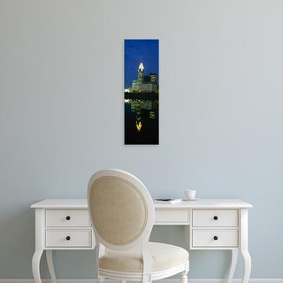 Easy Art Prints Panoramic Images's 'Buildings in a city lit up at night, Scioto River, Columbus, Ohio, USA' Canvas Art