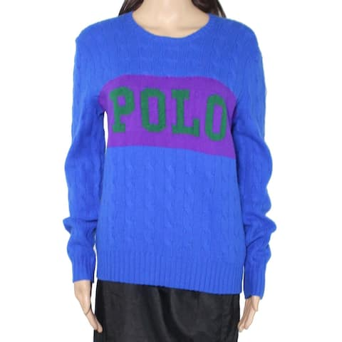 Polo by Ralph Lauren Women's Sweater Blue Size Large L Pullover Wool