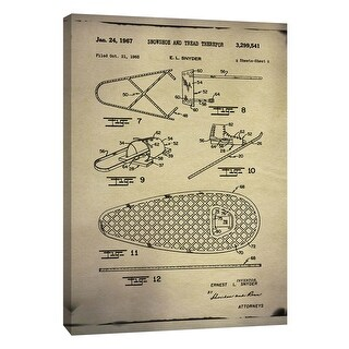 """PTM Images 9-108991  PTM Canvas Collection 10"""" x 8"""" - """"Snowshoe Patent Buff"""" Giclee Sports and Hobbies Art Print on Canvas"""