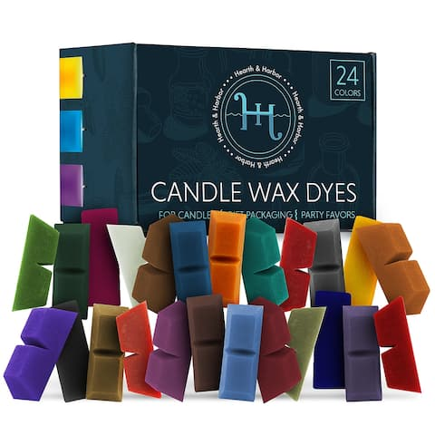 Hearth & Harbor Candle Dyes for Candle Making - 24 Color Blocks Candle Wax Dye