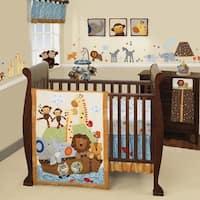 Lambs & Ivy S.S. Noah Ark with Animals 9-Piece Nursery to Go Baby Nursery Crib Bedding Set