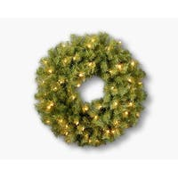 """24"""" Norwood Fir Wreath with Clear Lights - green"""