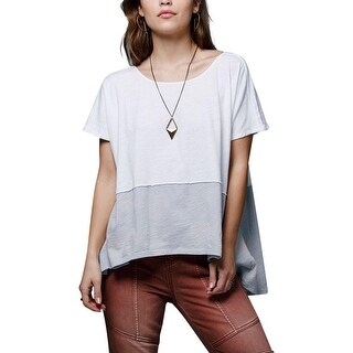 Free People Womens Casual Top Jersey Colorblock