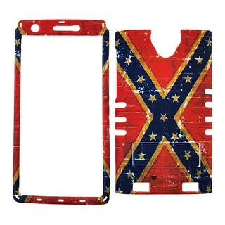 Rocker Series Snap-On Protector Case for ZTE Zmax 2 (Flag Design)
