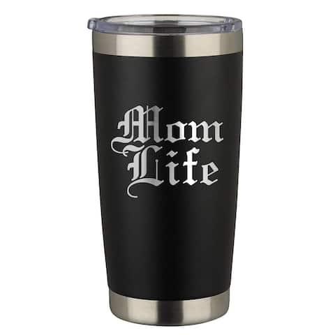 Mom Life Engraved 20 oz. Stainless Steel Tumbler with Lid