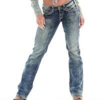 Women  Low Waist  Boot Cut Plus Size Jeans Hot Comfort Stretch Pants