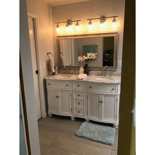 Shop Globe Electric Parker Light Wide Bathroom - 8 light bathroom bar