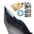 Ikepod Carbon Fiber Slim Note Wallet [ 3M Carbon Fiber + Italy Leather] - Black - Thumbnail 2