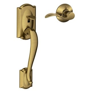 Schlage FE285-CAM-ACC-RH Camelot Lower Handleset for Electronic Keypad with Accent Interior Right Handed Lever