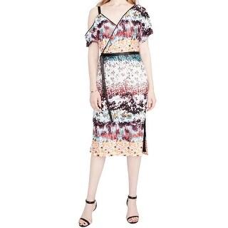 Rachel Rachel Roy Womens Floral Tiered Sheath Dress