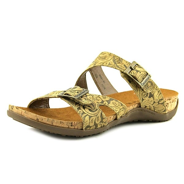 Bearpaw Maddie Women Open Toe Synthetic Tan Slides Sandal