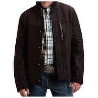 Stetson Western Jacket Mens Suede Leather Brown - XL