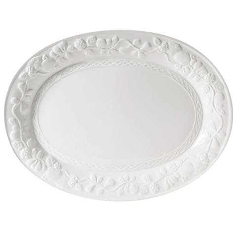 Gibson Home Fruitful 18.75 Inch Oval Platter