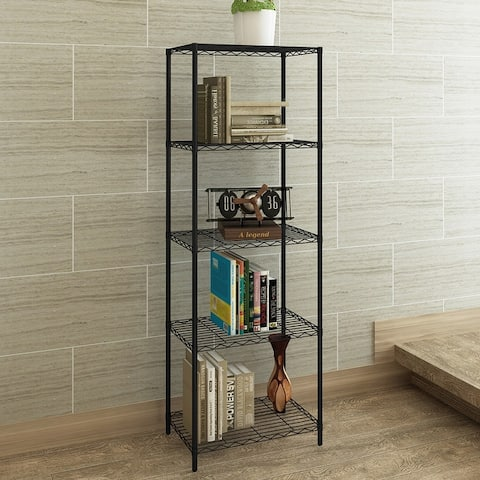 5-Wire Shelving Metal Storage Rack for Bathroom,Kitchen,Laundry