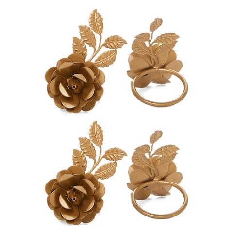 Napkin Rings Set of 12 (Golden Rose)