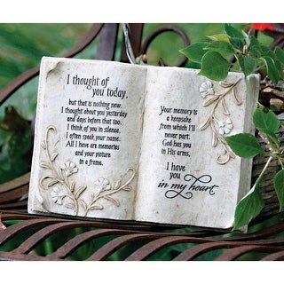 Thoughts of You Hanging Resin Wings Plaque In My Heart