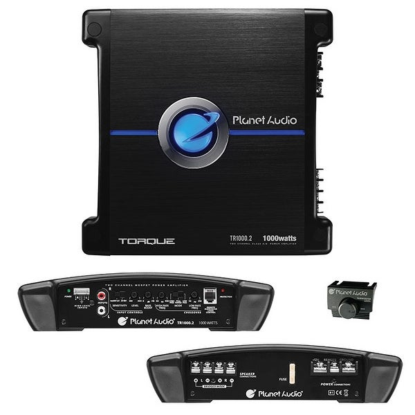 Planet Audio TR1000.2 Torque 1000 Watt, 2 Channel, 2 to 8 Ohm Stable Class A/B