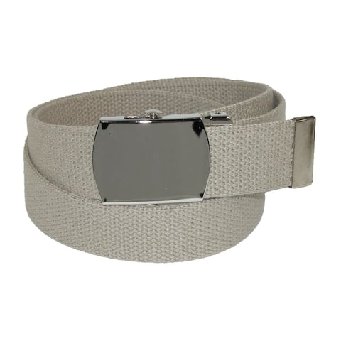 CTM® Cotton Adjustable Belt with Nickel Buckle - one size