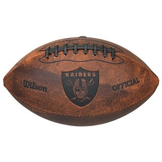 Oakland Raiders Football Vintage Throwback 9 Inches
