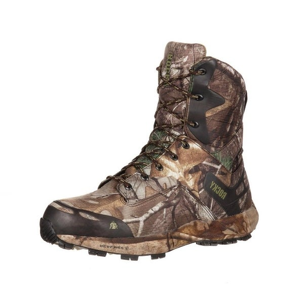 "Rocky Outdoor Boots Mens 8"" Broadhead Waterproof Realtree RKS0193"