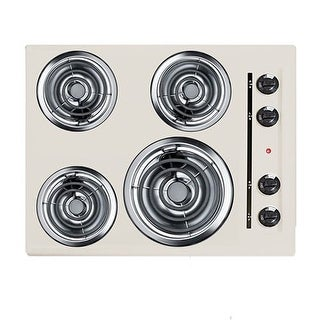 "Summit EL03 24"" Electric Cooktop with 4 Coil Element Burners and Indicator Light"