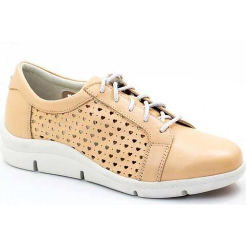 Dromedaris Women's Vivian Lace Up Sneaker Biscuit Leather