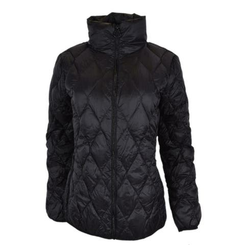 Michael Kors Women's Black Quilted Nylon Packable Down Puffer Jacket