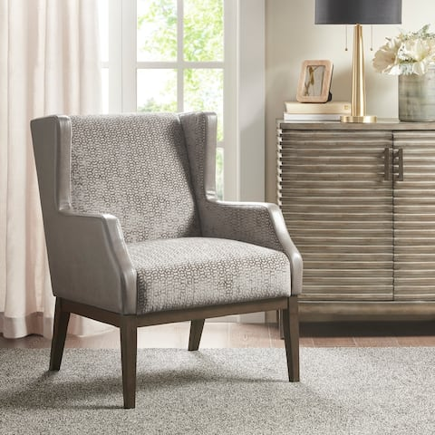 Madison Park Benjamin Cream/ Taupe Accent Chair