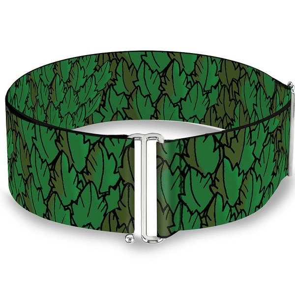 Poison Ivy Pose Leaves Stacked Cinch Waist Belt ONE SIZE