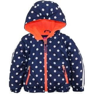 Pink Platinum Toddler Girls Polka Dot Active Hooded Jacket Spring Coat (Option: 3t)