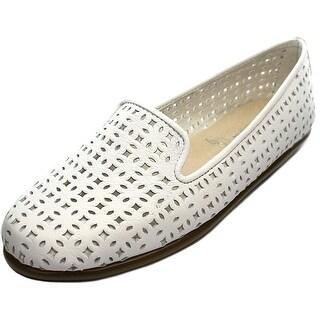 Aerosoles You Betcha Women Round Toe Leather White Flats
