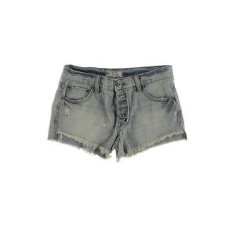 Free People Womens Cutoff Shorts Denim Distressed - 24