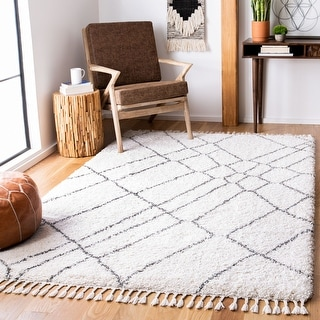 Link to SAFAVIEH Moroccan Fringe Shag Katli 2-inch Thick Rug Similar Items in As Is
