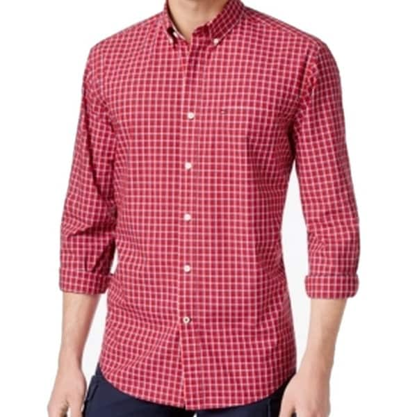 66f8a4ac Shop Tommy Hilfiger NEW Chili Pepper Red Mens Size XL Button Down Shirt - Free  Shipping On Orders Over $45 - Overstock - 18372966