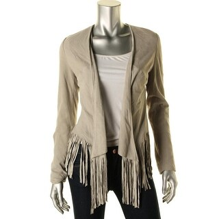 Moon & Meadow Womens Open Front Fringe Bolero