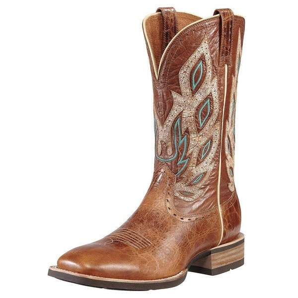Ariat Nighthawk Men Square Toe Leather Brown Western Boot