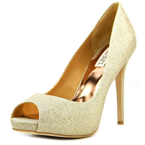 Badgley Mischka Ponderosa Women  Open Toe Canvas Gold Platform Heel