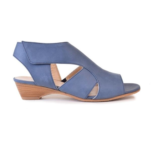 Amalfi by Rangoni Womens Doris Open Toe Casual Slingback Sandals, Blue, Size 8.0 - 8