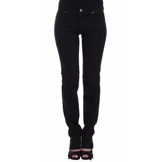 Ermanno Scervino Black Slim Jeans Denim Pants Straight Leg Stretch - w26