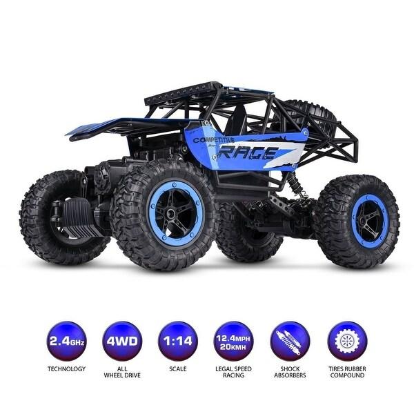 Shop 1:14 RC Jeep Rock Crawler Monster Truck Remote Car Dune Racer