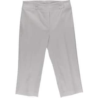 Rekucci Womens Capri Pants Sailor Buttons Flat Front - 12|https://ak1.ostkcdn.com/images/products/is/images/direct/578caff61fd57a2260677b0e4f19e46611a597a5/Rekucci-Womens-Capri-Pants-Sailor-Buttons-Flat-Front.jpg?impolicy=medium