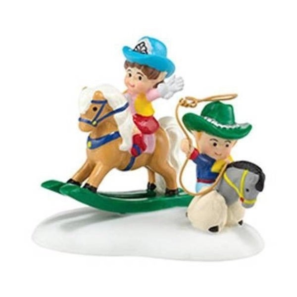 "Department 56 North Pole Series ""Cowboy Kids"" Accessory #4036552 - BLue"
