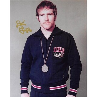 8 x 10 in. Dan Gable Autographed Photo Image No. 22G Gold Medal